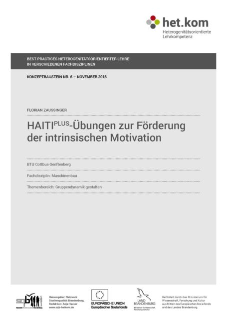 HAITI[PLUS]-Übungen zur Förderung der intrinsischen Motivation