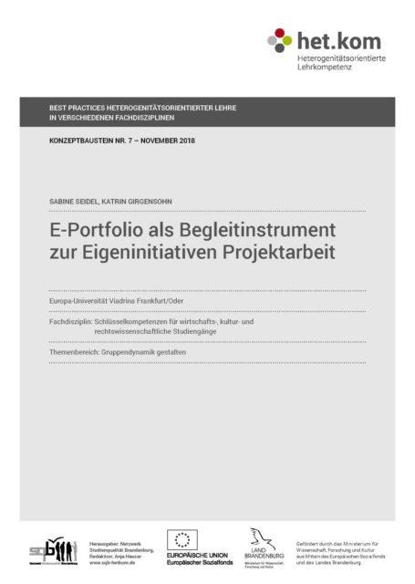 E-Portfolio als Begleitinstrument zur eigeninitiativen Projektarbeit