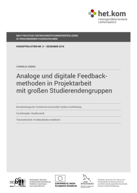 Analoge und digitale Feedbackmethoden in Projektarbeit mit großen Studierendengruppen