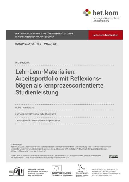 Lehr-Lern-Materialien zum Konzeptbaustein
