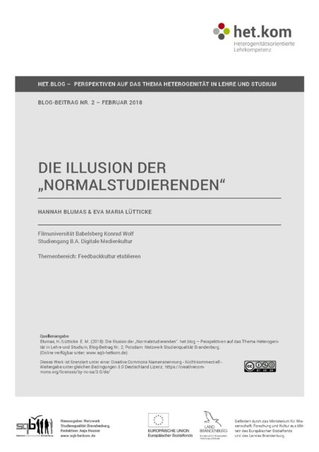"""Die Illusion der """"Normalstudierenden"""""""